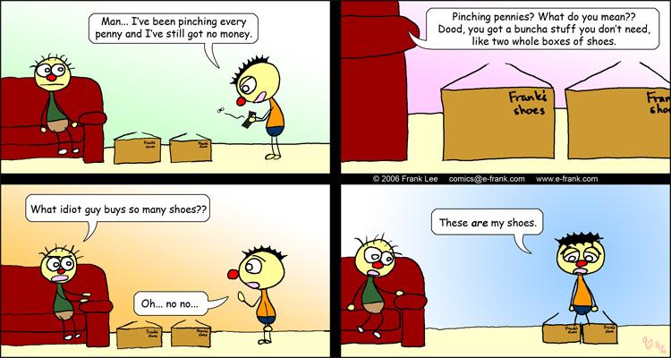 Pinching pennies comic